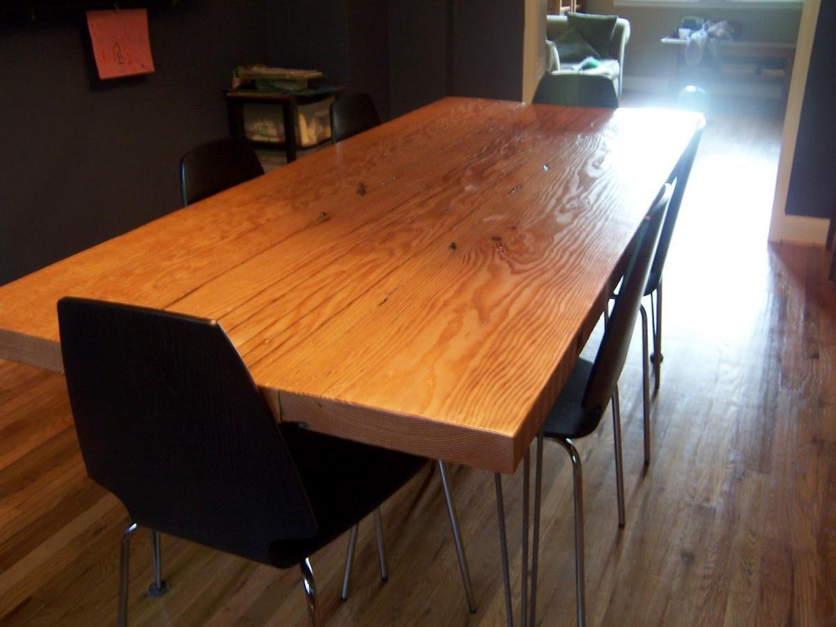 Большой обеденный стол своими руками 12
