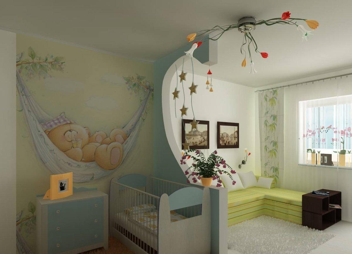 Как из одной комнаты сделать детскую и гостиную фото