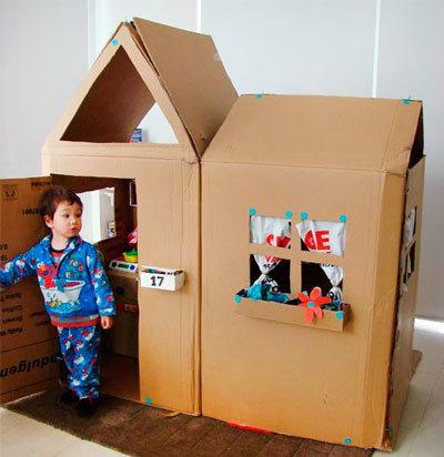 Как сделать самой домик для детей