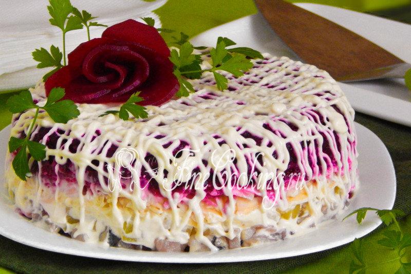 Салат шуба и рецепт с
