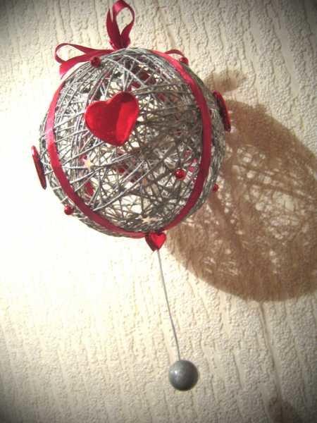 Елочная игрушка  шары-паутинки