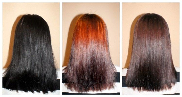 Как в домашних условиях свести черную краску с волос в домашних условиях