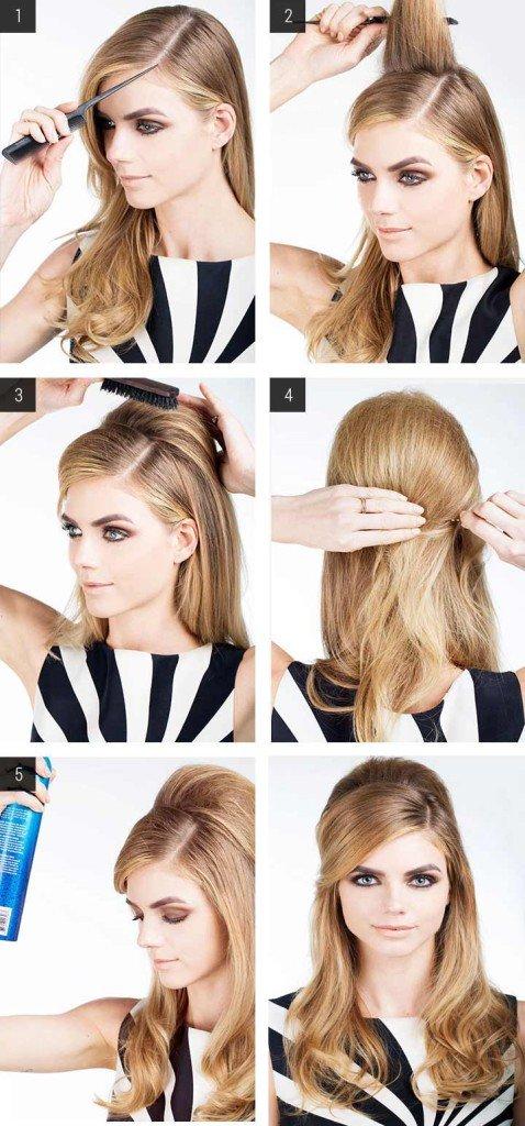 Прически на прямые средние волосы своими руками