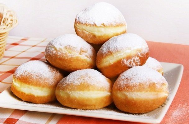 Пончики с кремом рецепт классический пошаговый рецепт с