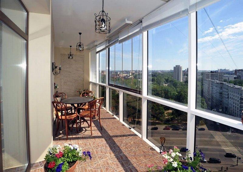 Дизайн балкона без остекления