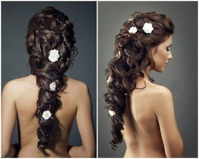 Прически для длинных волос для девушек на свадьбу
