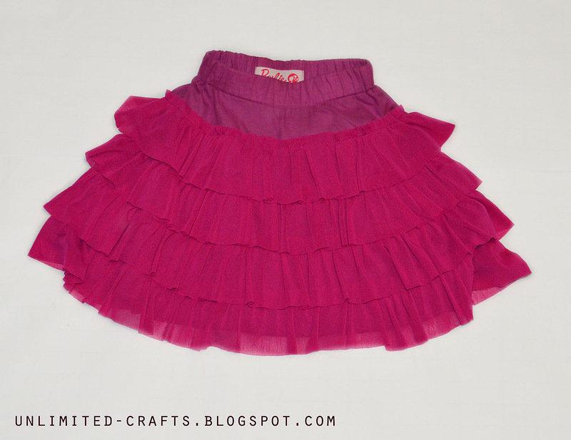Сшить юбку с рюшками
