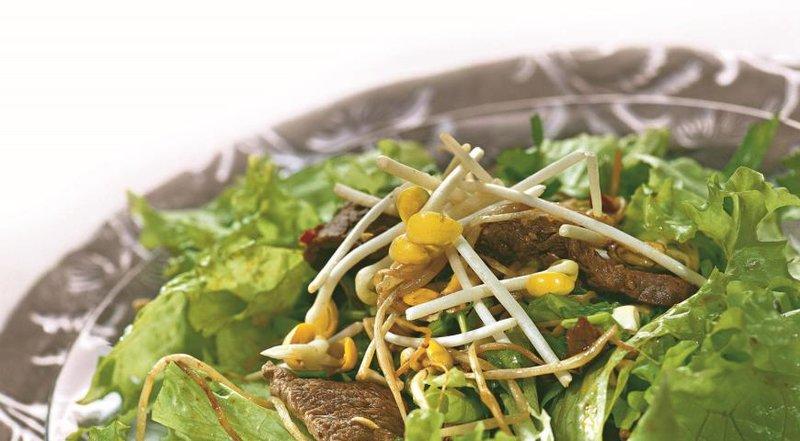 Салат с говядинойы с фото