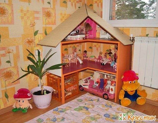 Как сделать своими руками кукольный домик картинки 199