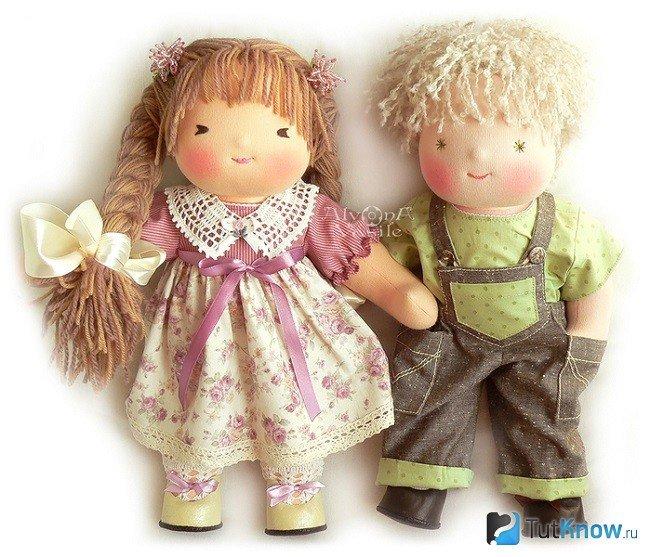 Вальдорфские куклы. как сделать