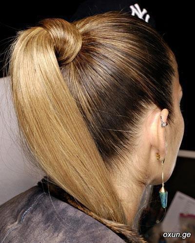 Как сделать конский хвост на средние волосы