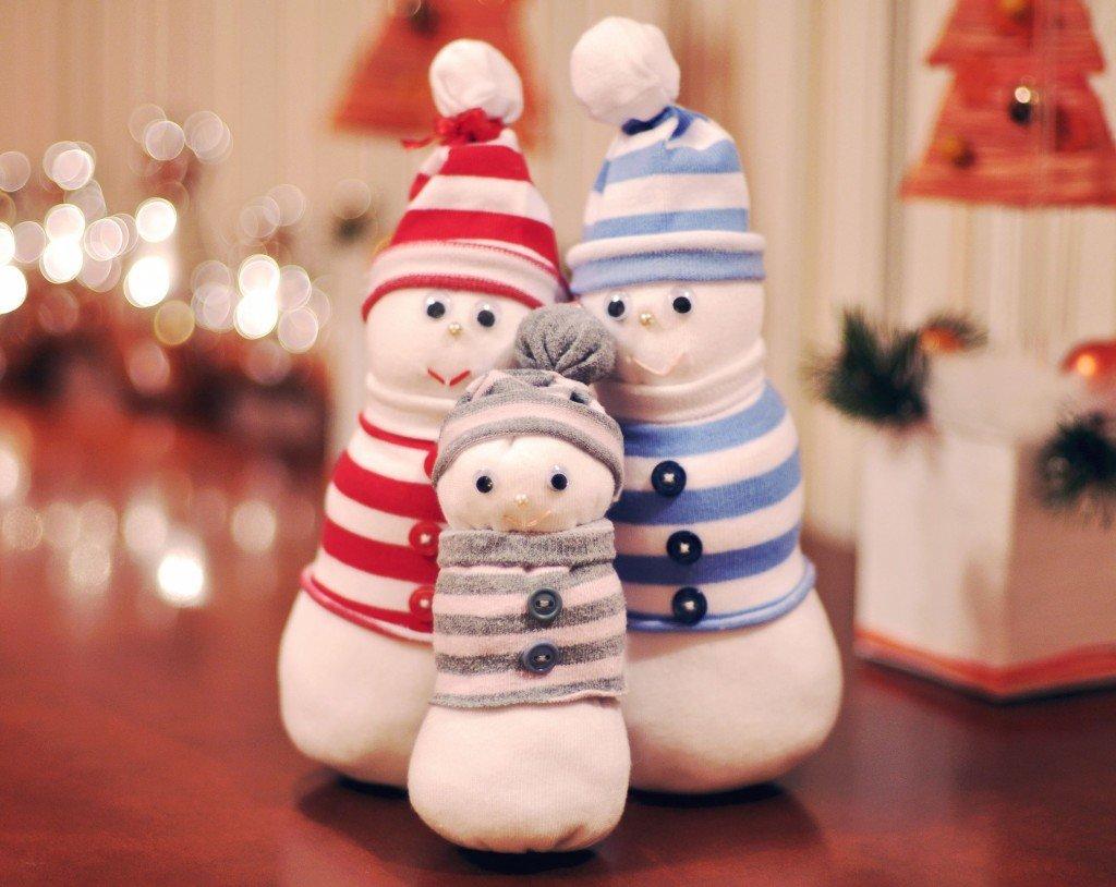 Снеговик из своими руками из носков 69