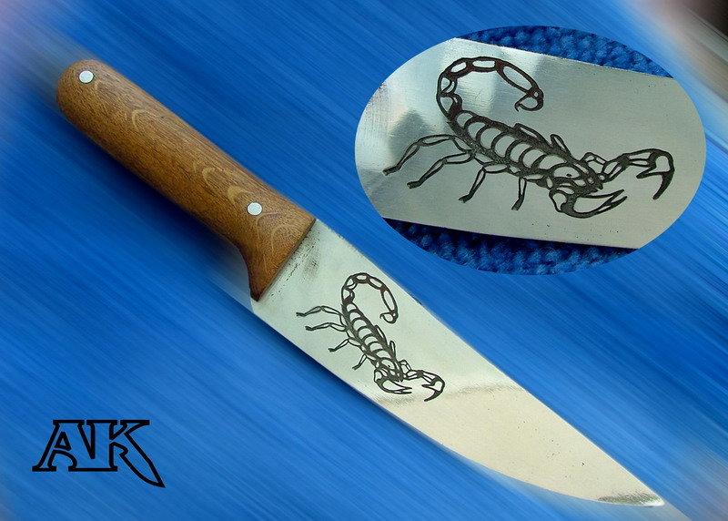Как сделать рисунок для ножа 83