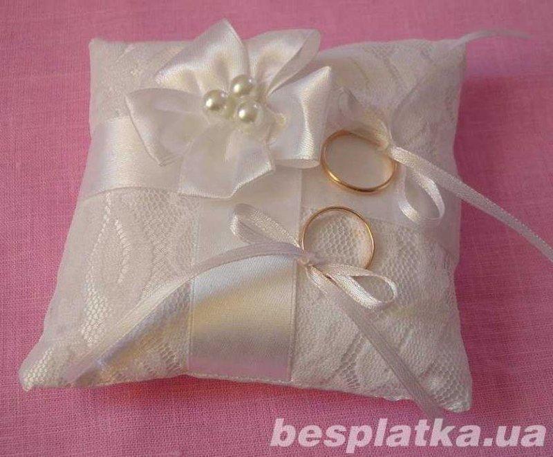 Подушки для кольца своими руками