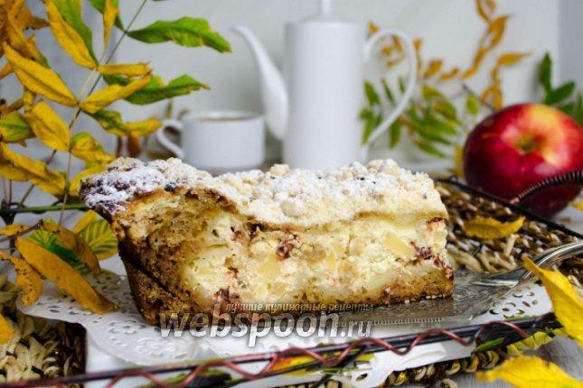 Пирог с яблоками на йогурте рецепт пошагово в духовке