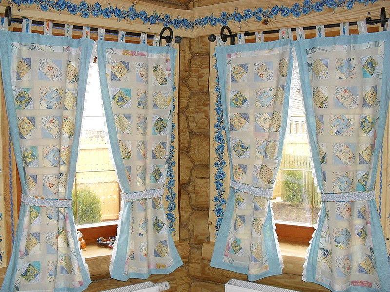 Шьём шторы для зала из остатков ткани