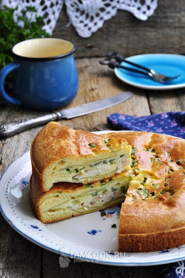 Заливной пирог с картошкой на сметане и майонезе рецепт с