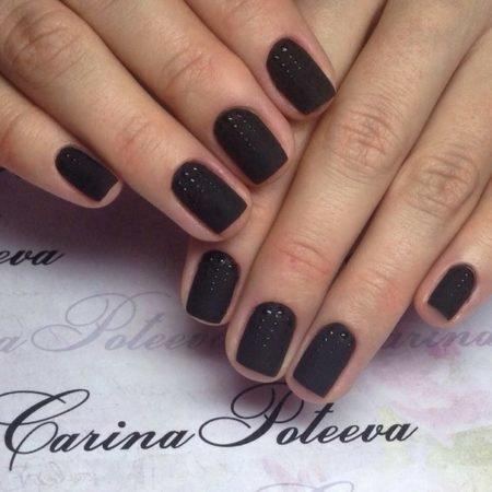 Фото черных ногтей шеллак