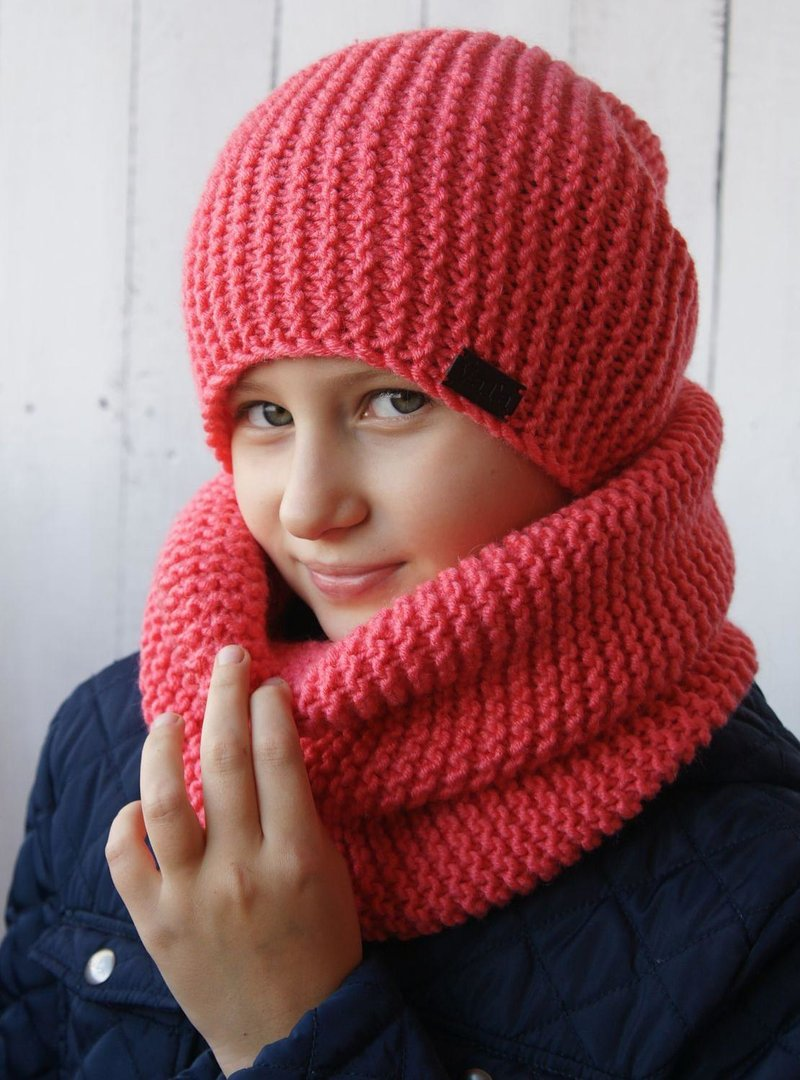 Вязание детям снуд и шапка
