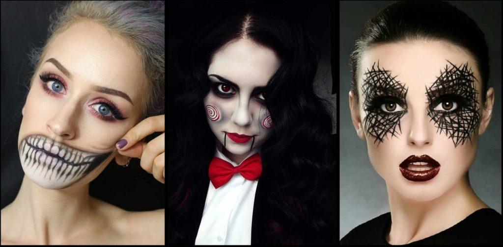 Макияж на хэллоуин для девушек своими руками фото пошагово 5