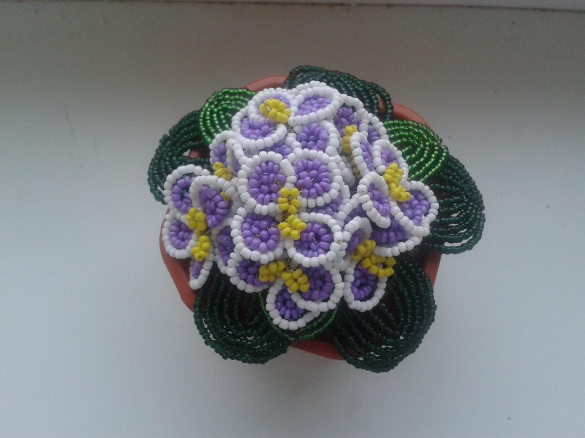 Цветы из бисера мастер класс с пошаговым фото