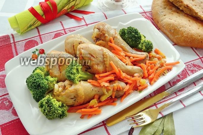 Голениы с овощами