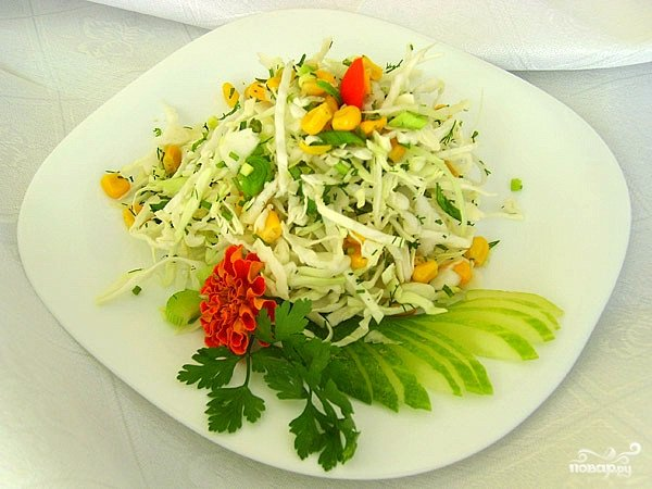 Салат капуста кукуруза и