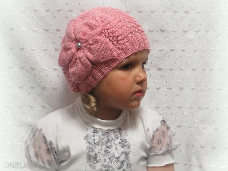 Вязание шапочки весна на девочек 380