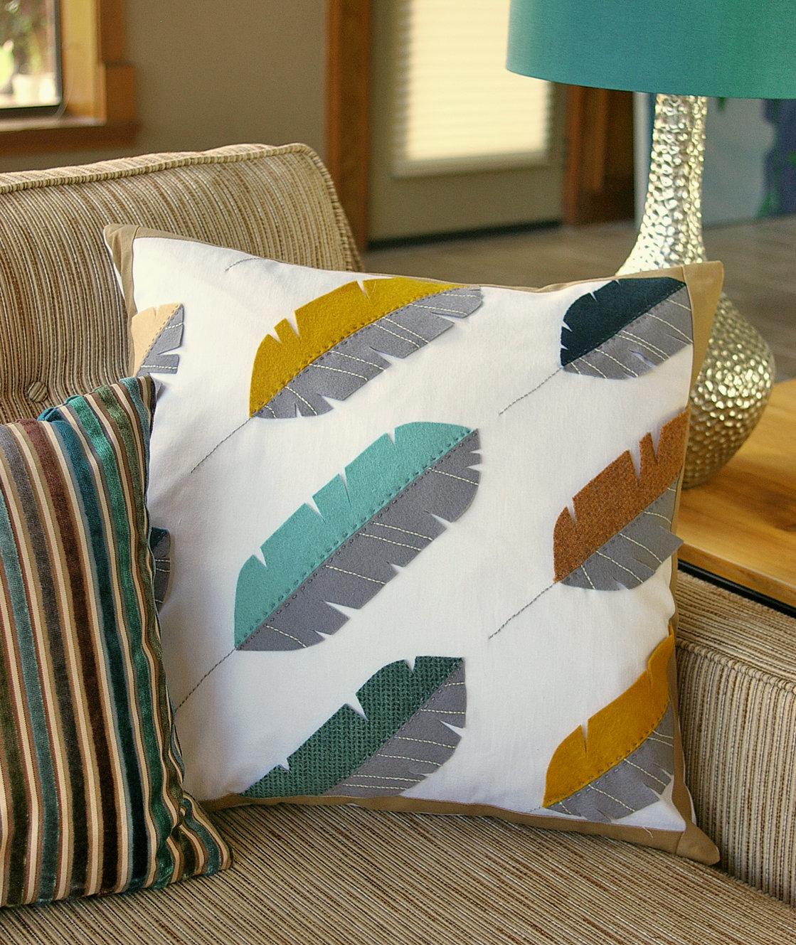 Подушечка диванная своими руками