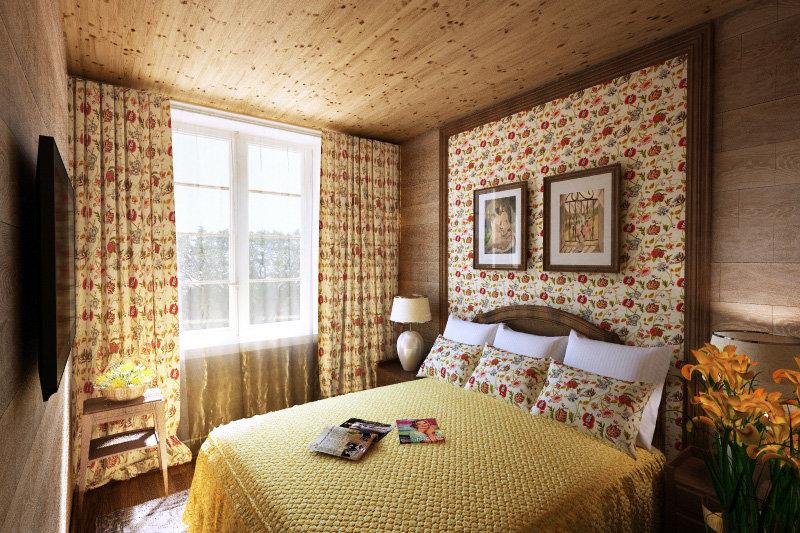 Стиль прованс в интерьере фото деревянного дома