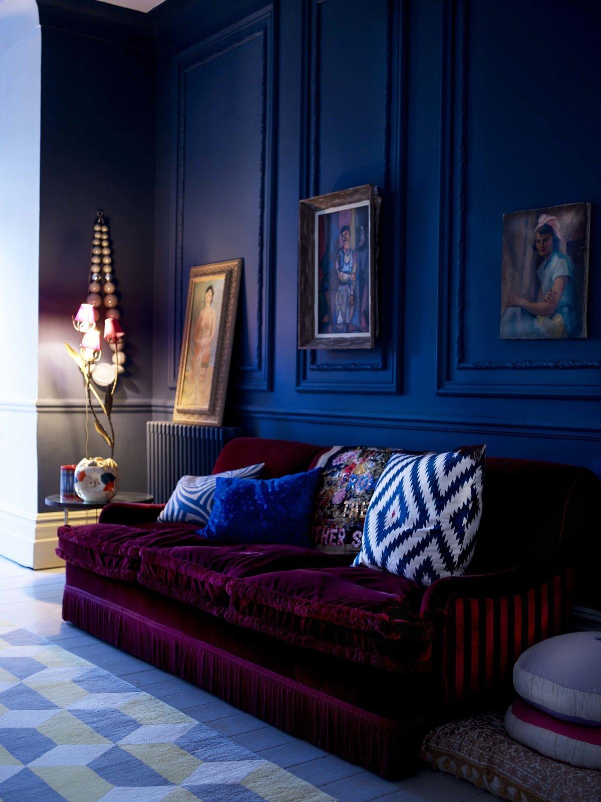 Сочетание цветов темно-синий фото