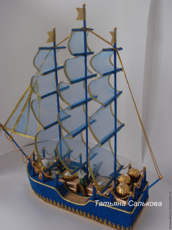 Поделки из конфет корабли своими руками из 10