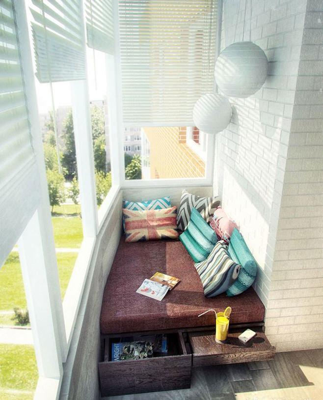 Своими руками кровать на балкон 299