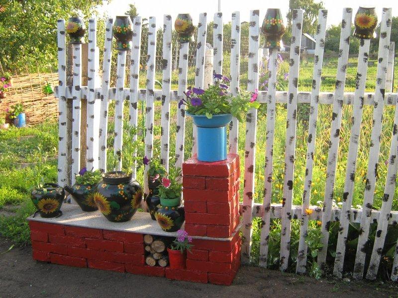 Заборчики для клумбы на даче своими руками