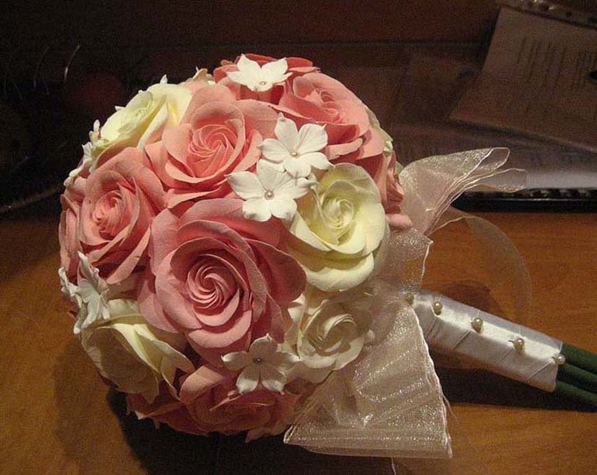 Искусственные букеты невест своими руками 761