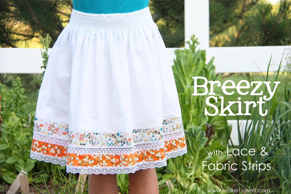 Украсить белую юбку своими руками