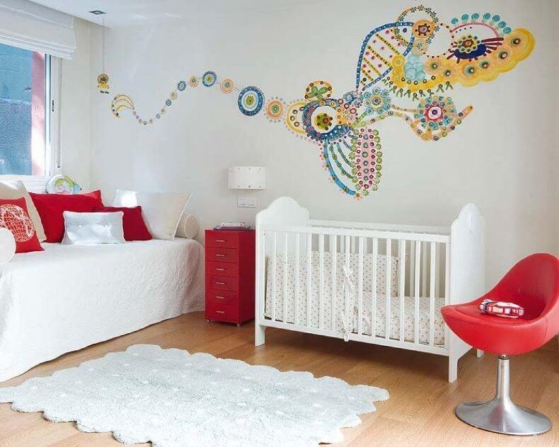 Дизайн стены своими руками в детской комнате 91