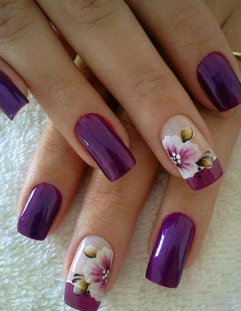 Шеллак Фиолетовый Дизайн Фото Ногтей Лучшие Работы