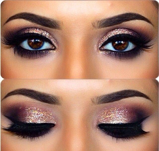 Фото вечерний макияж на глаза