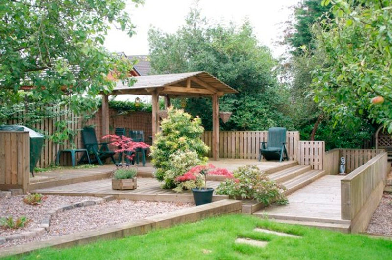 Красивые дворики на даче