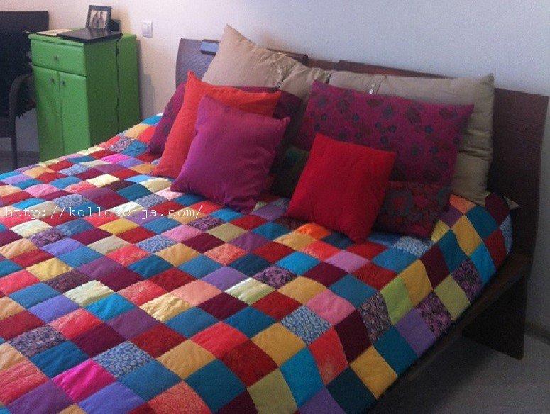 Одеяло из квадратов ткани своими руками 85