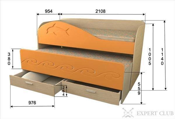 Как сделать двухъярусную выкатную кровать своими руками 85