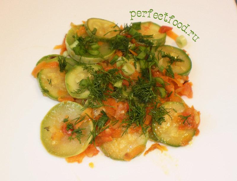 Жареные кабачки с овощами рецепт пошагово