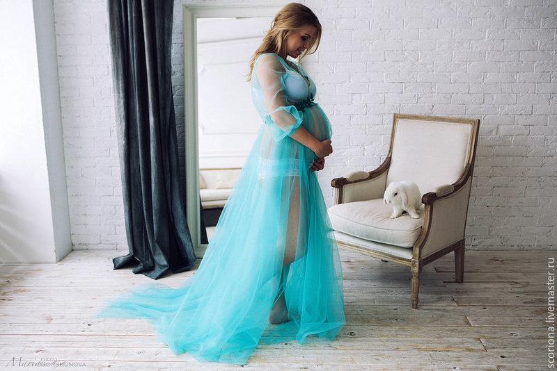 Будуарное платье для беременных фото