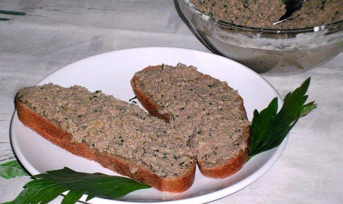 Паштет из говяжьей печени рецепт пошагово с фото