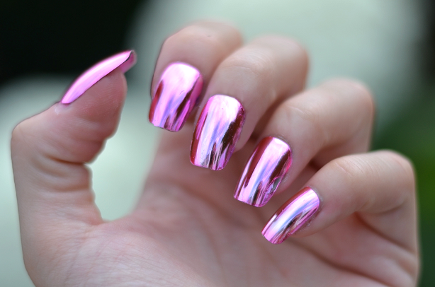 Ногти зеркальные гель лаком