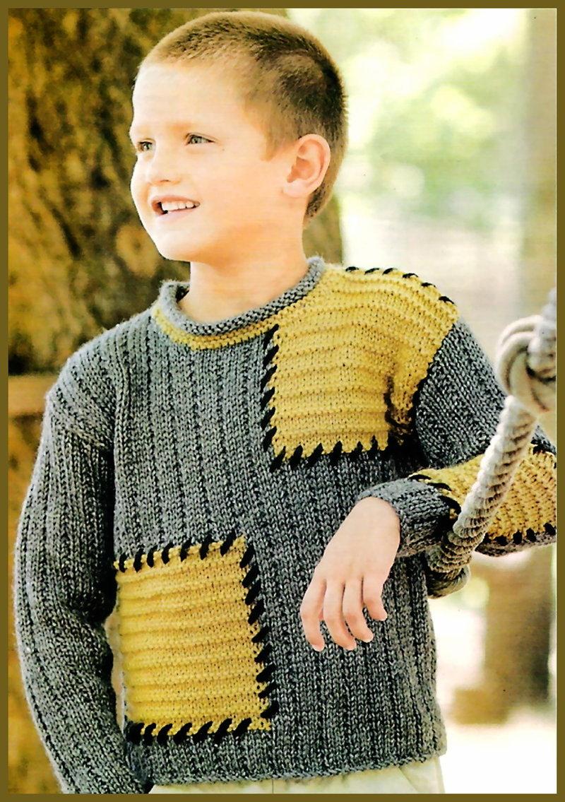 Вязание на спицах кардиган для мальчика 49