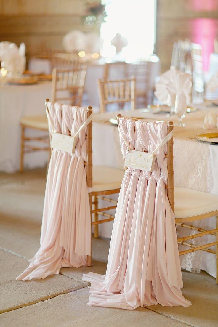 Оформление свадебного стульев своими руками