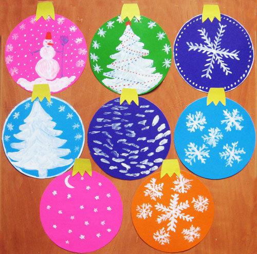 Новогодние шарики из бумаги как сделать