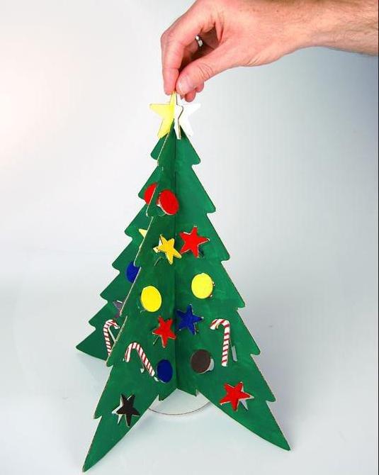 Как сделать елочную игрушку из картона